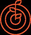 Orange growth sprouting icon