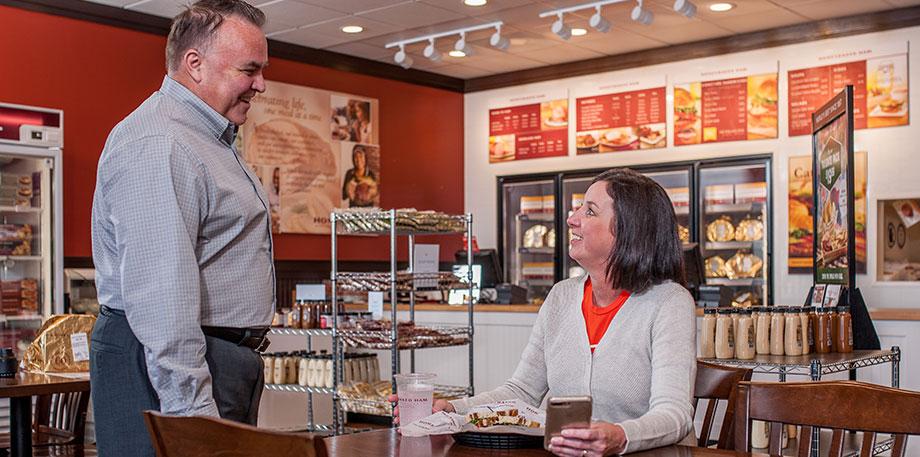 Honey Baked Ham - Franchisee Talking to Customer