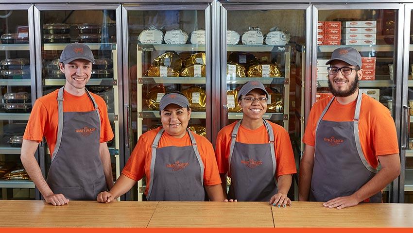Happy Honeybaked Ham Employees